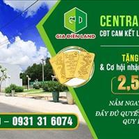 Đất nền Central Mall City Chơn Thành - chủ đầu tư cam kết sinh lời 24% chỉ với 2,5 triệu/m2