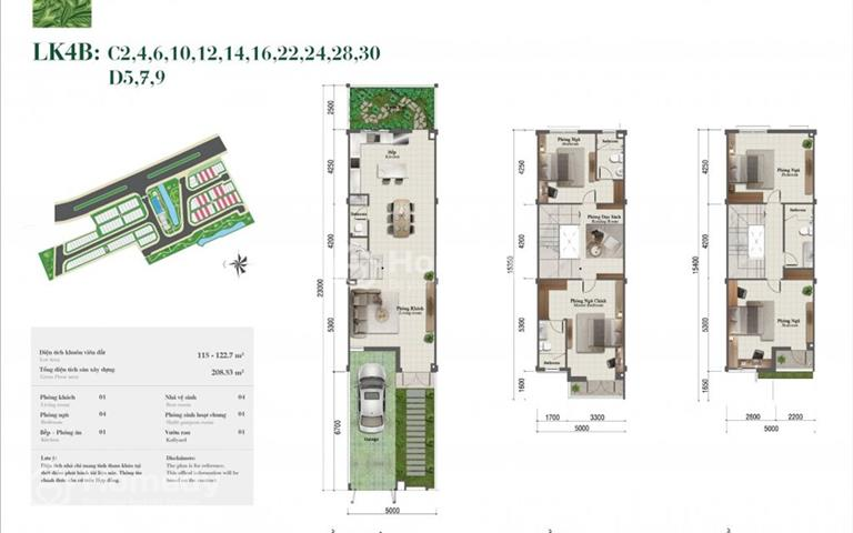 Bán nhà phố Rosita Khang Điền - 5x23m đất - 1 trệt 2 lầu