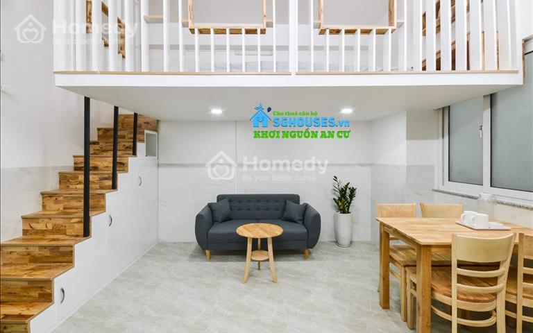 Cho thuê căn hộ 35m2 có gác, full nội thất tại Thân Nhân Trung - Tân Bình