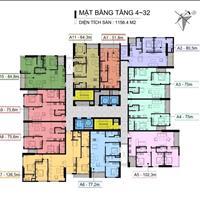 Cần giao dịch gấp căn hộ 110 Cầu Giấy Center Point, tầng 1810, diện tích 84.8m2, giá 2,85 tỷ