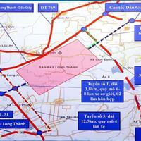 Bán 951m2 đất đường nhánh ĐT769, cách sân bay 5km, ngang 30m, thổ cư 380m2, giá 6 triệu/m2