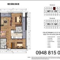 Bán căn x10 tòa HH1 chung cư 90 Nguyễn Tuân 2PN diện tích 71,22m2, giá ký hợp đồng 26 triệu/m2