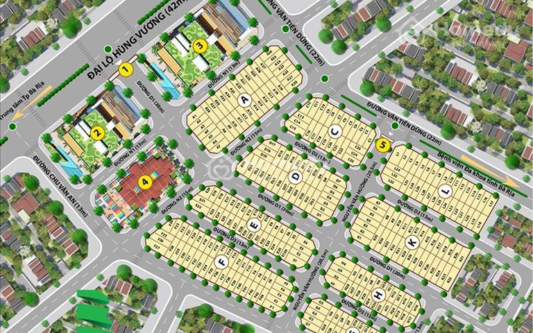 Chính chủ kẹt tiền bán gấp lô đất mặt tiền đường Hùng Vương, Phường Long Tâm, giá bán 1.7 tỷ
