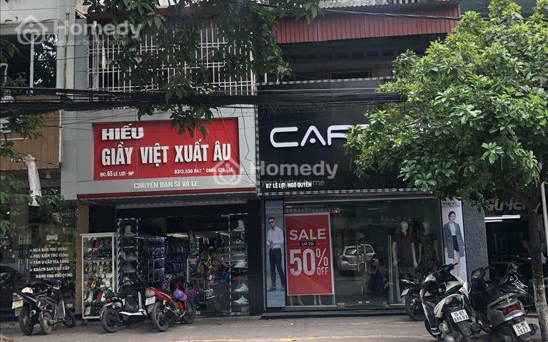 Cho thuê nhà mặt đường Lê Lợi, mặt tiền 5m, 200m2, 2 tầng tiện kinh doanh