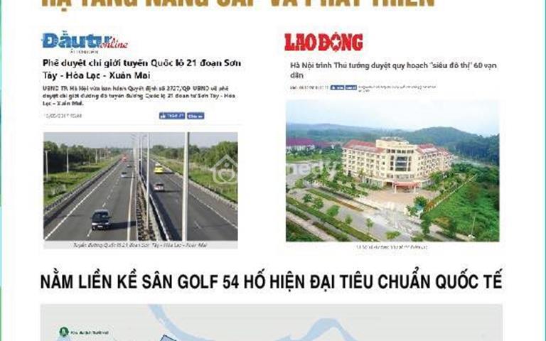 Bán dự án khu đô thị Thiên Mã Hòa Lạc - lô góc B53 - hướng Tây Nam, Tây Bắc