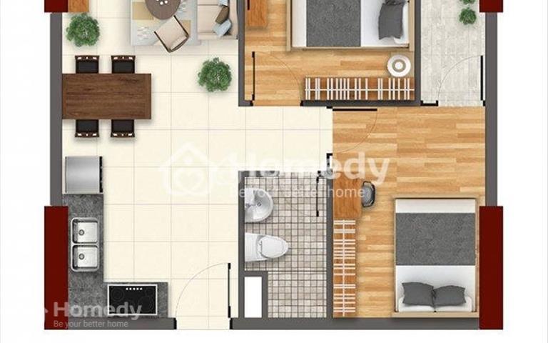 Bán căn hộ tầng 10, 2 phòng ngủ dự án Saigon Gateway, Quận 9 (1,75 tỷ đã VAT và phí bảo trì)