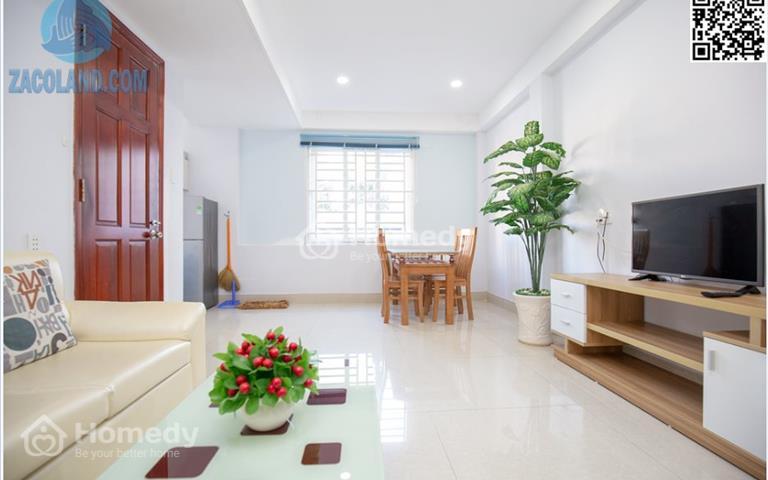 Cho thuê căn hộ 1 PN riêng, ánh sáng tự nhiên, full nội thất ngay chùa Phổ Quang, gần sân bay