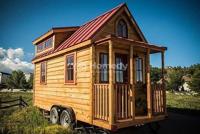 Căn nhà 10m2 nhưng tiện nghi đáng kinh ngạc. Ngôi nhà được thiết kế có thể di chuyển phù hợp công việc tự do của cô.