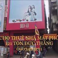 Cho thuê nhà mặt phố, số 121 mặt phố Tôn Đức Thắng, Đống Đa, Hà Nội, căn góc 2 mặt tiền