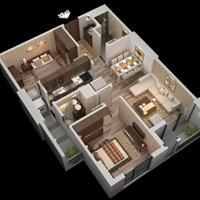 Chung cư Roman Plaza - căn hộ 2 phòng ngủ, chỉ từ 26 triệu/m2