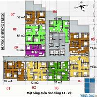 Bán căn hộ chung cư tầng 15 -  Toà B - Chung cư 283 Khương Trung