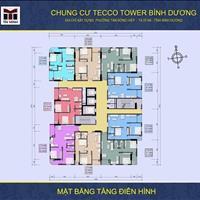 Bán căn 908 chung cư Tecco Tower Bình Dương giá rẻ nhất thị trường