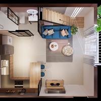 Căn hộ kiểu Nhật 42m2 2 phòng ngủ, full nội thất, sổ hồng, giá 899 triệu, An Lạc