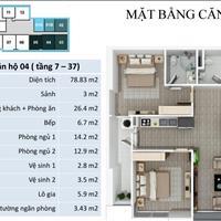 Bán căn 04, 79m2, 2 phòng ngủ, 1,4 tỷ tại chung cư FLC Star Tower Quang Trung, Hà Đông