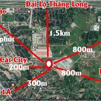 Bán đất tại đường Nông Lâm, xã Phú Cát, Quốc Oai, Hà Nội diện tích 300m2, giá 9.5 triệu/m²