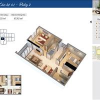 Bán căn hộ số 01 tòa R2, tầng cao, full nội thất, đã có sổ tại chung cư Goldmark City
