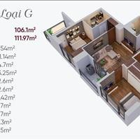 Chung cư Ngoại Giao Đoàn 3 phòng ngủ ban công hướng Nam 27 triệu/m2