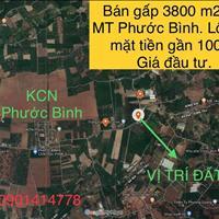 Bán gấp 3800m2 đất xã Phước Bình, góc 2 mặt tiền, ngang 100m, giá 8.2 tỷ