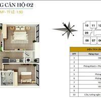 Bán căn góc 74m2, 2 phòng ngủ, nội thất cơ bản, giá 1,55 tỷ tại chung cư FLC Star Tower Quang Trung