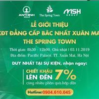 Mở bán KĐT đẳng cấp nhất Xuân Mai The Spring Town - giá từ 10 triệu/m2, cơ hội đầu tư sinh lời ngay
