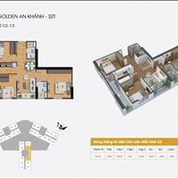 Bán nhanh căn hộ chung cư The Golden An Khánh, căn 1603, 92.2m2, giá 1,7 tỷ