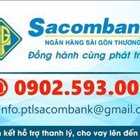 Thông báo Sacombank hỗ trợ phát mãi 32 nền đất, 2 dãy trọ sổ riêng gần khu vực Chợ Rẫy 2