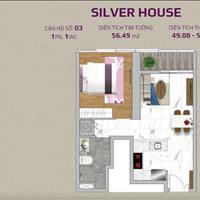 Bán gấp căn 1 phòng ngủ NNN Silver house tại Sunwah Pearl, có S.P.A chính chủ, 56m2
