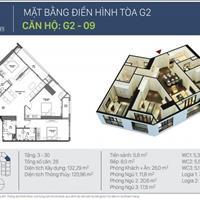 Bán căn hộ 4 phòng ngủ, 120m2 giá 3,7 tỷ, view vườn hoa, hồ sinh thái Vĩnh Hưng