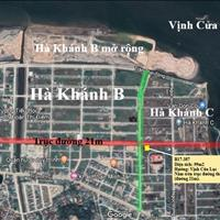 Lô đất Hà Khánh C trục đường 21m (trục thông) giá rẻ nhất thị trường, giá 15,5 triệu/m2