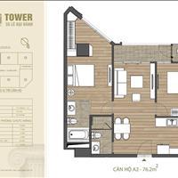 Căn hộ cao cấp HDI Tower 55 Lê Đại Hành 6.3 tỷ 76.2m2 full nội thất tặng 100 triệu, nhận nhà ở ngay