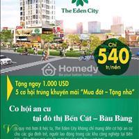 Chiết khấu 1000$ cho KH khi đặt chỗ đầu tiên đất nền dự án The Eden City - LS 0%