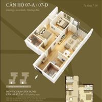 Cắt lỗ căn 07D, 83m2 chung cư Mandarin Tân Mai 2 phòng ngủ, giá 2.38 tỷ