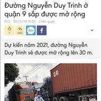Thông tin đất quy hoạch mở rộng đường mặt tiền Nguyễn Duy Trinh, giá khởi điểm đầu tư 18 triệu/m2