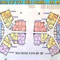 Chủ nhà cần bán gấp chung cư CT1 Yên Nghĩa, tầng 1205, 114.9m2, giá 12 triệu/m2