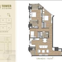 Bán căn góc 3PN 2 ban công Đông Nam A1 chung cư HDI Tower 9 tỷ/116.7m2, CK 100tr, hỗ trợ 70%