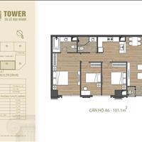 Bán căn 3PN đẹp nhất dự án 55 Lê Đại Hành HDI Tower, ban công Đông, 8.62 tỷ, CK 100tr ngân hàng 70%