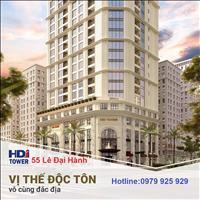 Căn hộ cao cấp HDI Tower 55 Lê Đại Hành 7.7 tỷ, 3PN, full nội thất, ban công Đông Nam, CK 100 triệu