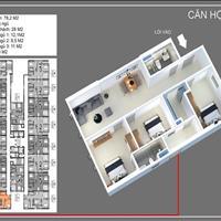 Bán căn 77m2, 3 phòng ngủ gần Hồng Hà Eco City, giá gốc 1,232 tỷ, cho vay 70%