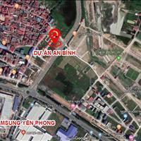 Bán lô góc đất nền dự án Shophouse An Bình, KCN Yên Phong Bắc Ninh, mặt đường 42m, đã có sổ đỏ