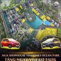Nhận ngay xe Vinfast Fadil khi sở hữu Shophouse Vinhomes Ocean Park - Ngân hàng hỗ trợ tới 70%