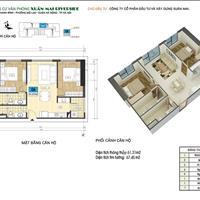 Bán căn hộ 67m2 có thiết kế đẹp nhất dự án Xuân Mai Riverside - Mỗ Lao - Hà Đông