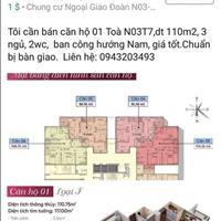 Bán căn hộ tòa N03.T7 Ngoại Giao Đoàn hướng Đông Nam