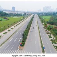 Lô góc VIP nhất dự án Kiến Hưng Luxury mặt đường 53m, hướng Tây Bắc Tây Nam, 86m2, 105 triệu/m2