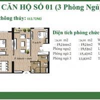 Bán gấp căn hộ 112.5m2 An Bình City, view quảng trường hồ điều hòa cực đẹp, giá 3.65 tỷ
