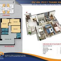 Bán căn 3 phòng ngủ 80m2 giá rẻ nhất PCC1 Thanh Xuân chỉ 2.3 tỷ nhận nhà ngay cùng nhiều ưu đãi