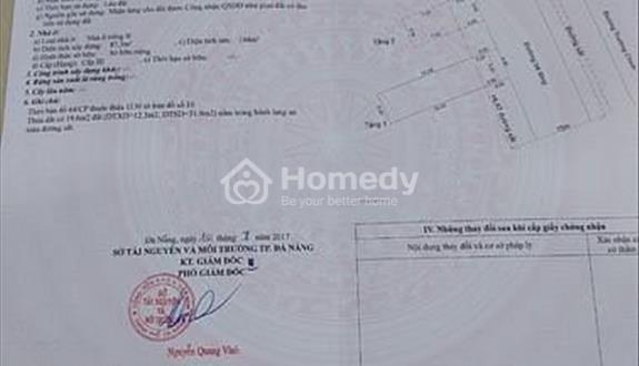 Bán nhà mặt tiền đường Trường Chinh - Cẩm Lệ - Đà Nẵng