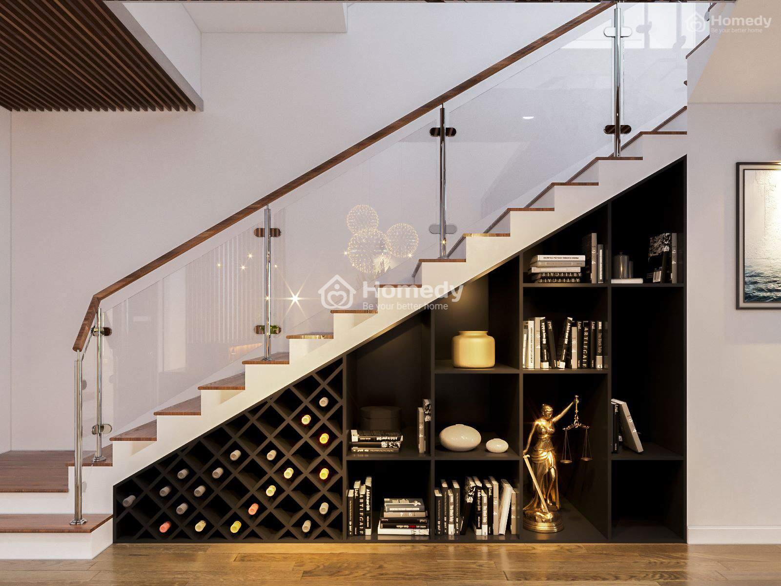 Tận dụng gầm cầu thang thông minh, hô biến căn nhà đẹp như mơ