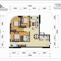Bán căn 3 phòng ngủ 97,55m2 chung cư Gelexia Riverside Hoàng Mai, chỉ 22 triệu/m2
