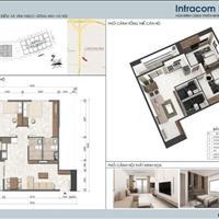 Bán căn hộ chung cư tại dự án Intracom Riverside, Đông Anh, Hà Nội diện tích 67m2