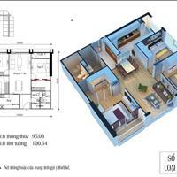 Bán gấp căn góc 3 phòng ngủ tòa CT1 Eco Green City, giá 2.95 tỷ